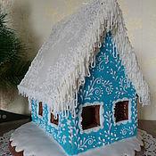 Подарки к праздникам handmade. Livemaster - original item Gingerbread house in snow. Handmade.