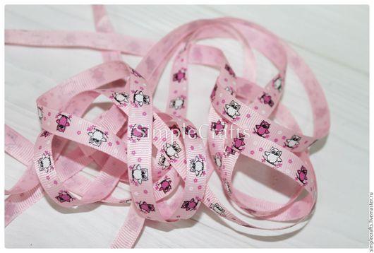 Шитье ручной работы. Ярмарка Мастеров - ручная работа. Купить Репсовая лента СОВЯТА розовый 10 мм. Handmade. Шнур