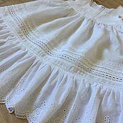 Работы для детей, handmade. Livemaster - original item Linen sundress White tenderness In the presence of Growth 104/110. Handmade.