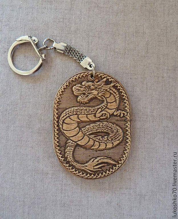 """Брелоки ручной работы. Ярмарка Мастеров - ручная работа. Купить Брелок из бересты """"Дракон"""". Брелок для ключей. Сувенир из бересты. Handmade."""