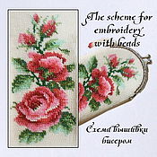 Материалы для творчества handmade. Livemaster - original item The scheme for embroidery with beads Red roses on a light background. Handmade.