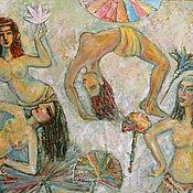 Картины и панно ручной работы. Ярмарка Мастеров - ручная работа египетский танец. Handmade.