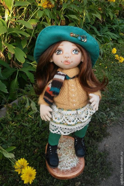 Коллекционные куклы ручной работы. Ярмарка Мастеров - ручная работа. Купить Текстильная кукла. Handmade. Желтый, текстильная кукла, фурнитура