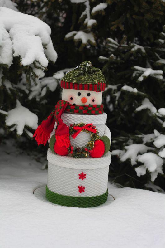 Новый год 2017 ручной работы. Ярмарка Мастеров - ручная работа. Купить Снеговик. Handmade. Снеговик, упаковка, оригинальный подарок, коробка