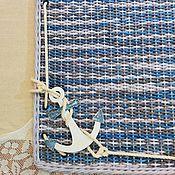 """Картины и панно ручной работы. Ярмарка Мастеров - ручная работа Панно с часами """"Морской бриз"""". Handmade."""