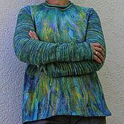 """Одежда ручной работы. Ярмарка Мастеров - ручная работа Свитер валяный """"Ундина"""". Handmade."""