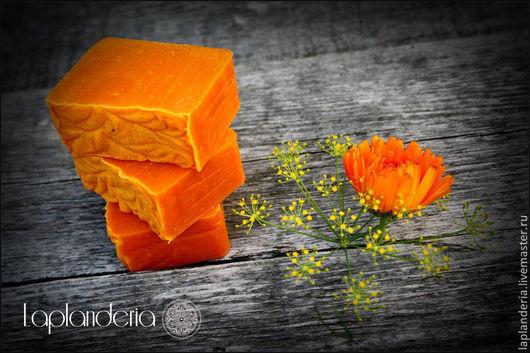 """Мыло ручной работы. Ярмарка Мастеров - ручная работа. Купить """"Апельсины и Солнце"""". Handmade. Рыжий, солнце, фрукты, мыло, лимон"""