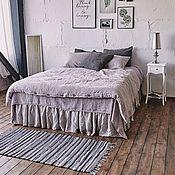 Подзоры и юбки для кровати ручной работы. Ярмарка Мастеров - ручная работа Льняное постельное. Handmade.