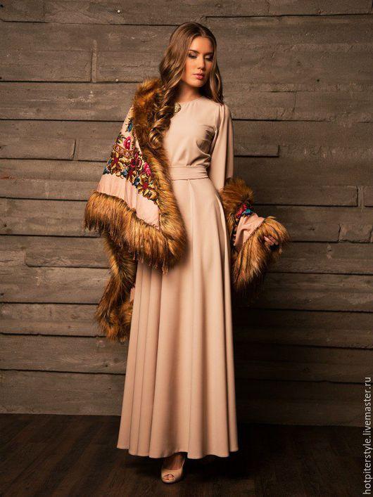 Платье в макси длине, платье в пол, осеннее платье ручной работы, платье из Итальянских тканей. Сделано в Санкт-Петербурге. Дизайнер Август van der Вальс
