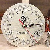 Для дома и интерьера ручной работы. Ярмарка Мастеров - ручная работа Часы с цвергшнауцером. Handmade.