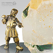 Подарки к праздникам handmade. Livemaster - original item Bronze Danila master with tourmaline in quartz on a plate of dolerite. Handmade.