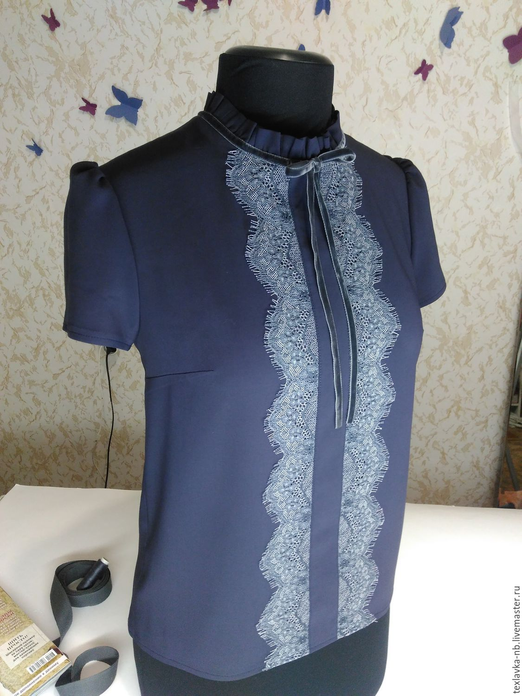 Женские блузки с кружевом купить в интернет магазине