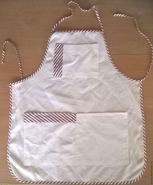 Другие виды рукоделия ручной работы. Ярмарка Мастеров - ручная работа. Купить Фартук для мастер-классов. Handmade. Белый