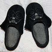 Обувь ручной работы. Ярмарка Мастеров - ручная работа Тапочки Дарт Вейдер. Handmade.