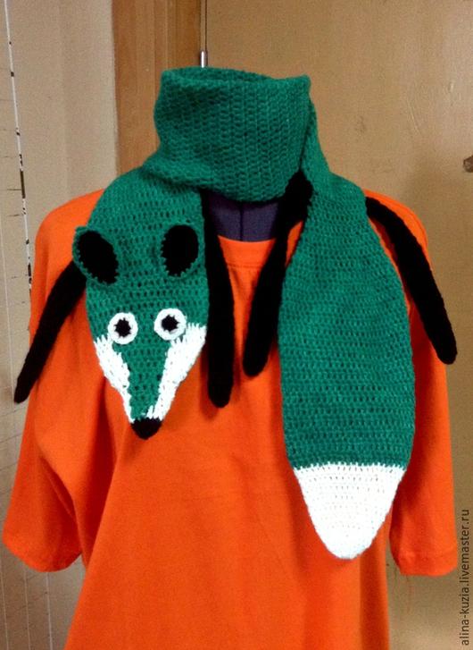 Шарфы и шарфики ручной работы. Ярмарка Мастеров - ручная работа. Купить шарф лисичка. Handmade. Разноцветный, лиса, прикольный подарок