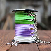 Материалы для творчества handmade. Livemaster - original item Braided cord for pendant 45 cm. Handmade.