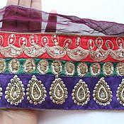 Материалы для творчества handmade. Livemaster - original item Indian braid with embroidery 160cm. Handmade.