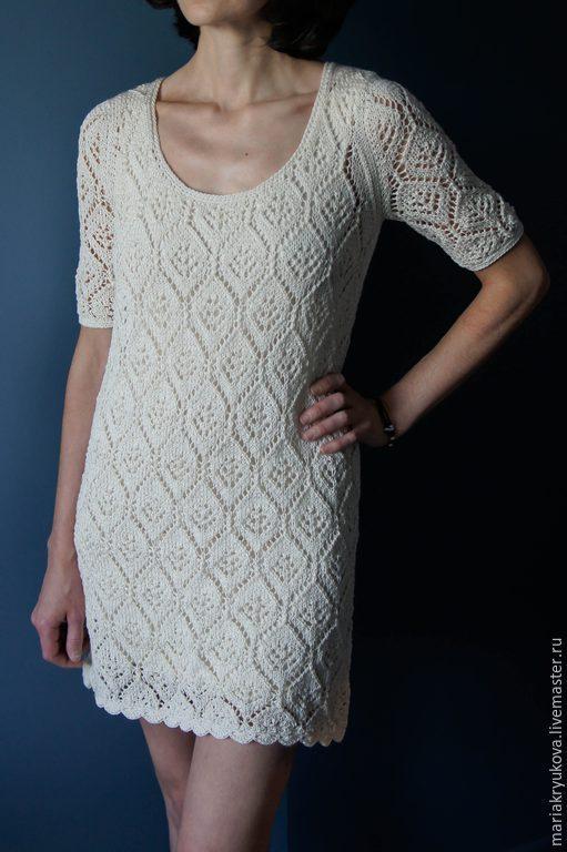 Платья ручной работы. Ярмарка Мастеров - ручная работа. Купить Ажурное нарядное платье. Handmade. Белый, слоновая кость