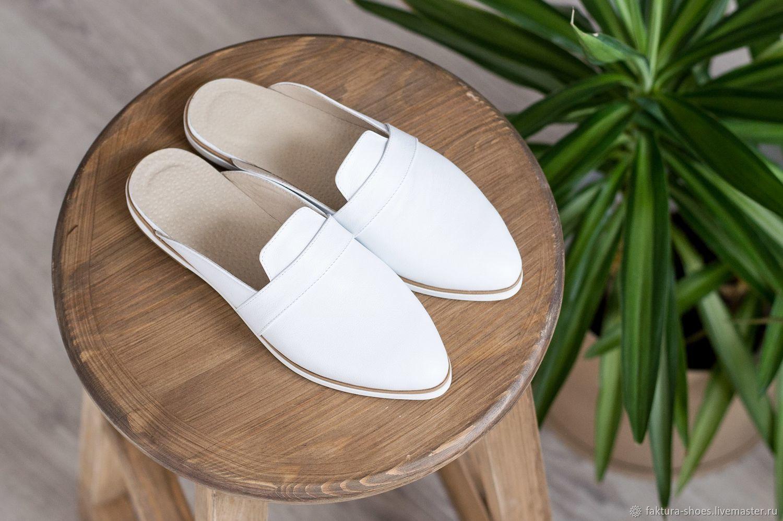 Обувь ручной работы. Ярмарка Мастеров - ручная работа. Купить Кожаные Мюли. Handmade. Натуральная кожа, обувь ручной работы