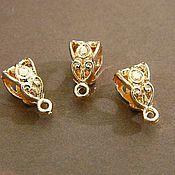 Материалы для творчества handmade. Livemaster - original item BP-01) bail for pendants, rose gold, 13 x 7 x 8 mm. Price per unit. Handmade.