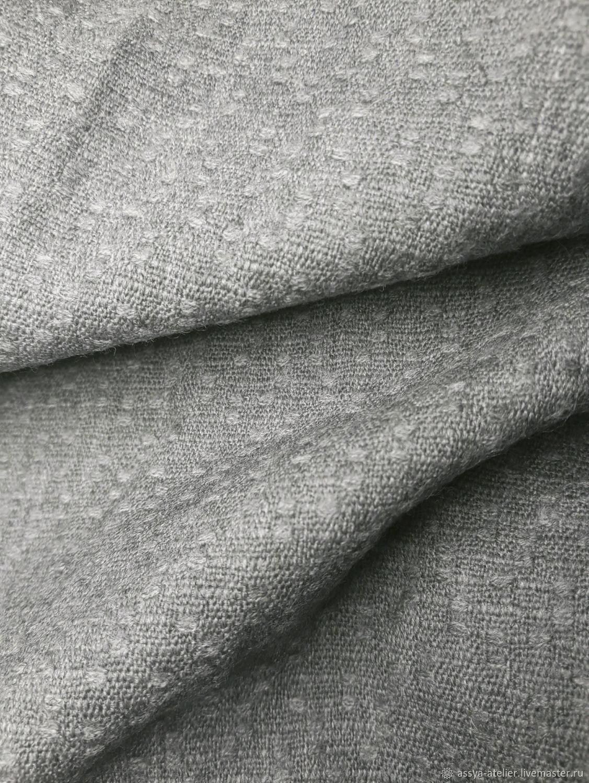 Плательная шерсть, 100% натуральная,  серого цвета, 2,7 м, Ткани, Королев,  Фото №1