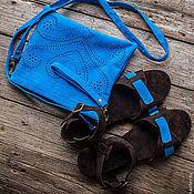Обувь ручной работы handmade. Livemaster - original item Sandals made of genuine suede Jess II. Handmade.