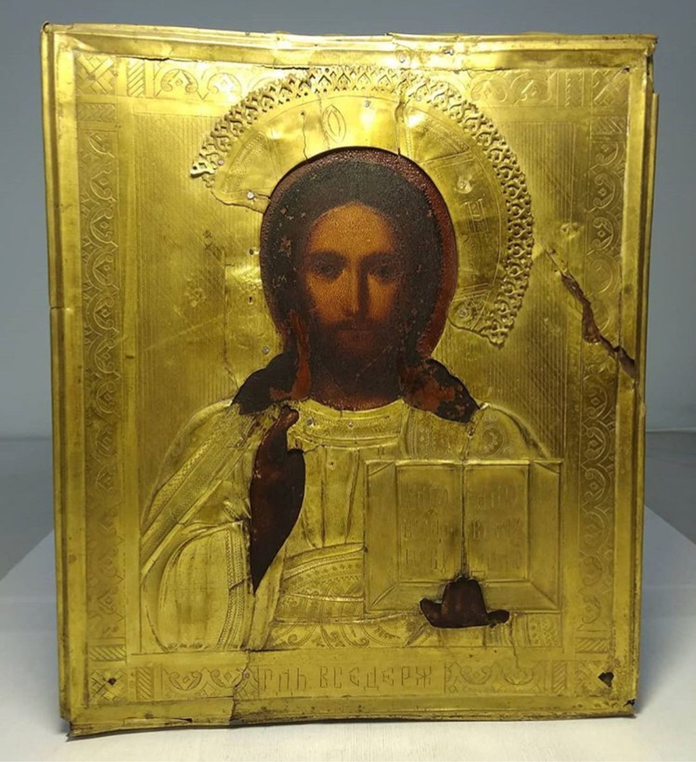 Antique icon ' the Almighty', Vintage interior, Moscow,  Фото №1