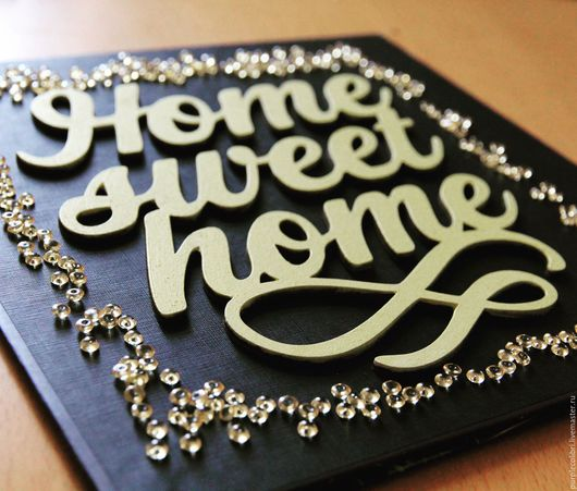 Слова `Home sweet home`, фанера 3 мм, размер 17*18 см, цена 350 руб. Возможны другие размеры, расцветки, толщина материала.