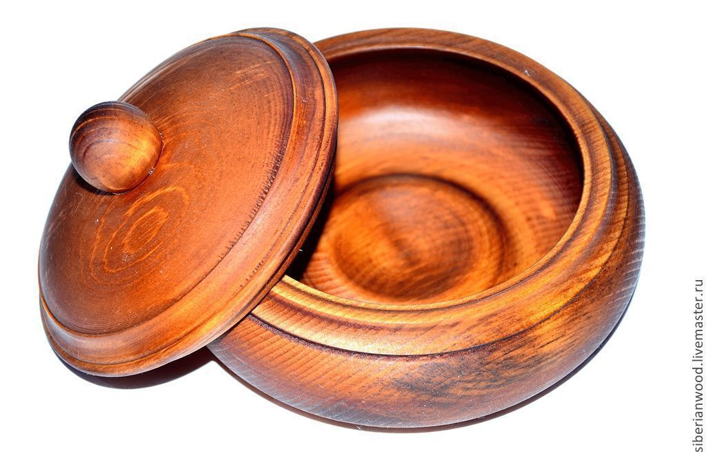 Кубышка из Сибирского Кедра - посуда из дерева для кухни #K2, Конфетницы, Новокузнецк, Фото №1