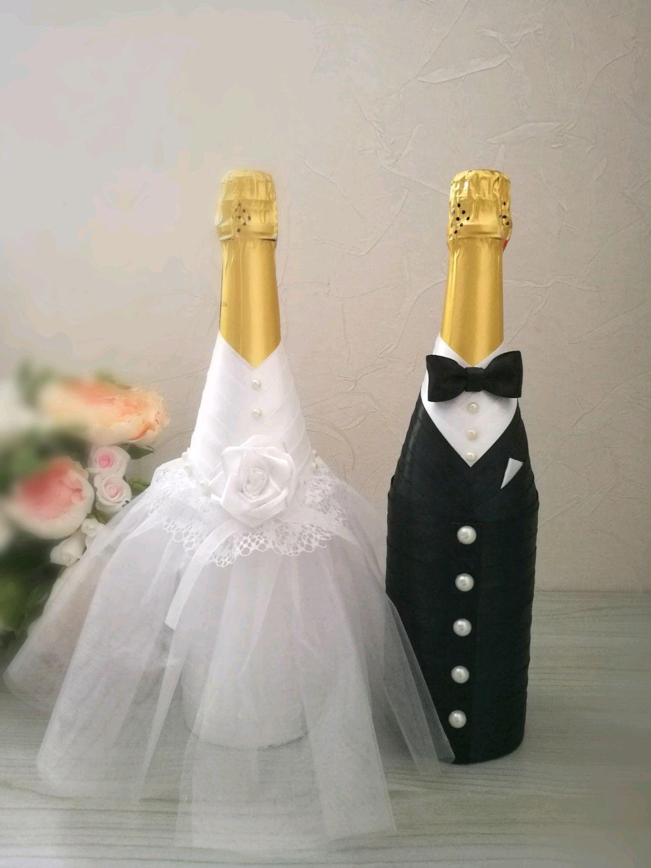 Свадебные бутылки в цвете и стиле по Вашему желанию, Бутылки, Москва, Фото №1
