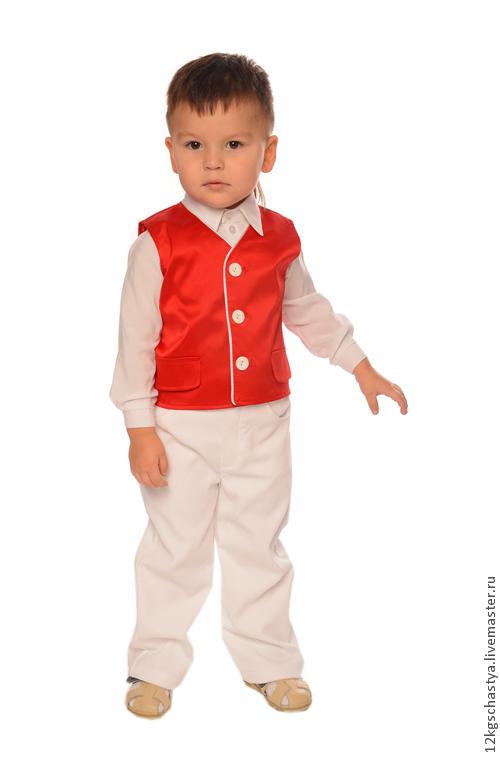 """Одежда для мальчиков, ручной работы. Ярмарка Мастеров - ручная работа. Купить Костюм для мальчика """"Модник"""". Handmade. Ярко-красный, жилет"""