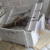 """Для дома и интерьера ручной работы. Ярмарка Мастеров - ручная работа Короб """"Лаванда"""". Handmade."""