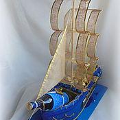 Подарки к праздникам ручной работы. Ярмарка Мастеров - ручная работа Корабль из конфет. Handmade.