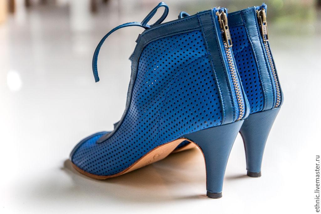 Maria · Обувь ручной работы. Туфли из натуральной кожи Michele . Кожаные  туфли на каблуке. 9b30df5e5b6