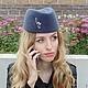 """Шляпы ручной работы. Ярмарка Мастеров - ручная работа. Купить Шляпка - пилотка """"Милитари"""", велюр. Handmade. Шляпка, шляпа пилотка"""