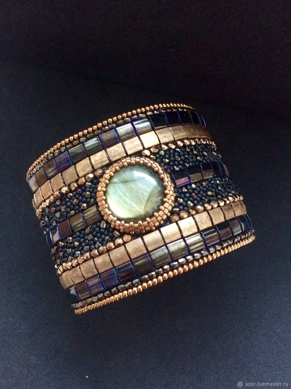 Bracelet with labradorite BR 68 ' Face/ Warm drop', Bead bracelet, Kazan,  Фото №1