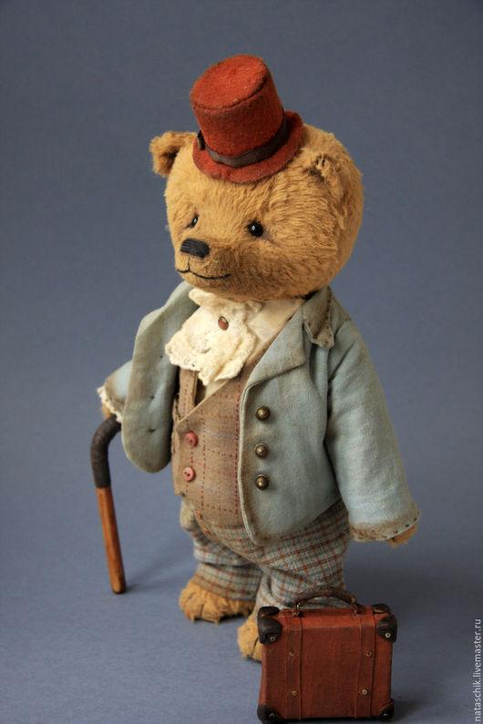 Коллекционный медведь тедди, авторский мишка тедди, мишка в костюме