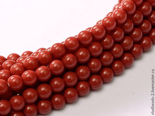 Для украшений ручной работы. Ярмарка Мастеров - ручная работа. Купить Бусины 2мм чешские стеклянные Dark Coral. Handmade.