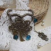 Украшения handmade. Livemaster - original item Vintage Brooch Pin emerald Rain Forest Owl. Handmade.
