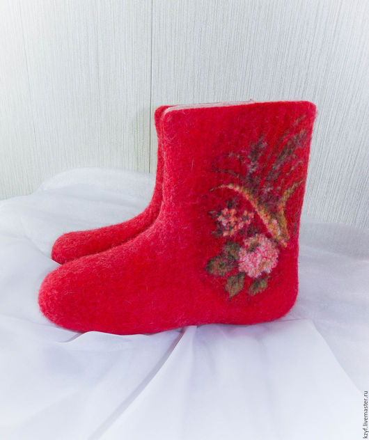Валенки женские, валенки домашние, валенки для дома, валенки в подарок, валяная обувь, обувь для дома