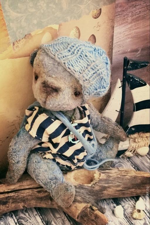 Мишки Тедди ручной работы. Ярмарка Мастеров - ручная работа. Купить Джонатан. Handmade. Голубой, путь, винтаж, шплинтовое соединение