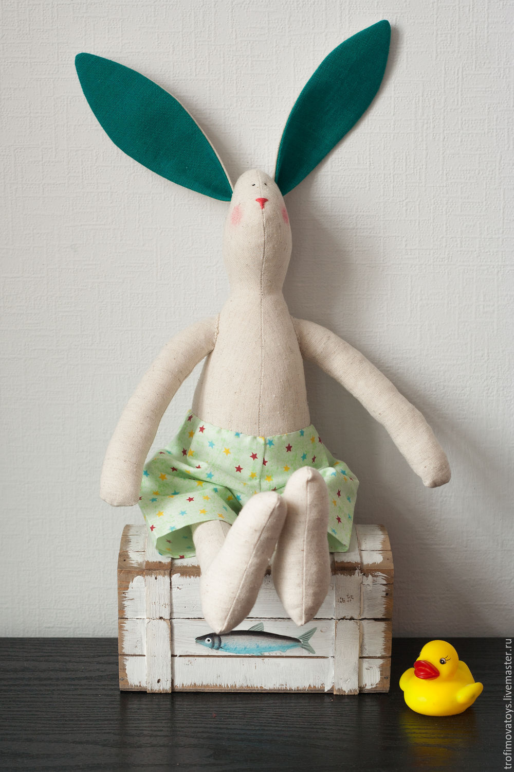Tilda hare Olof. textile toy. Gift on March 8, Tilda Toys, Dzerzhinsky,  Фото №1
