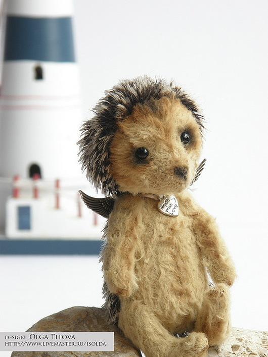 """Мишки Тедди ручной работы. Ярмарка Мастеров - ручная работа. Купить Игрушка-тедди """"Ежиный Ангел"""". Handmade. Коричневый, тедди"""