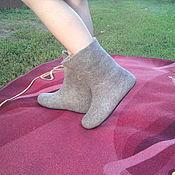 Обувь ручной работы. Ярмарка Мастеров - ручная работа валенки ручной валки на подошве из микропористой резины. Handmade.