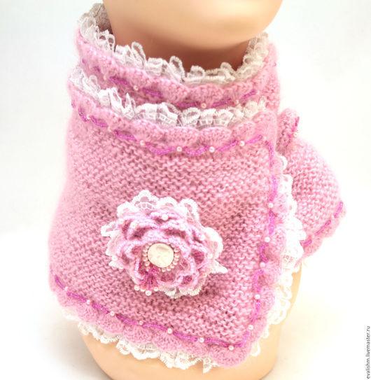 """Шарфы и шарфики ручной работы. Ярмарка Мастеров - ручная работа. Купить Шарф """"Нежность"""" (розовый). Handmade. Розовый, шарф вязаный"""
