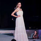 Платья ручной работы. Ярмарка Мастеров - ручная работа Платье в пол из шифона. Handmade.