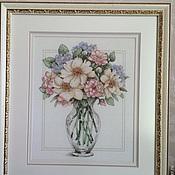 Картины и панно ручной работы. Ярмарка Мастеров - ручная работа Цветы в высокой вазе. Handmade.