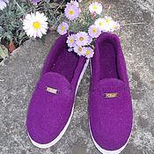 """Обувь ручной работы. Ярмарка Мастеров - ручная работа Слипоны женские """" Сирень"""". Handmade."""