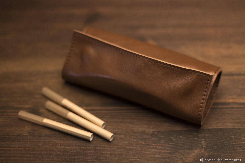 Кожаный кисет для табака, Сумки и аксессуары, Москва, Фото №1