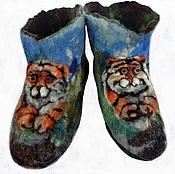 Обувь ручной работы handmade. Livemaster - original item Felted Slippers for men. Boots for the house